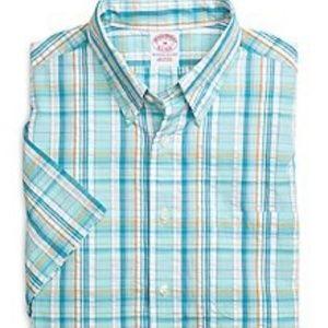Brooks Brothers Regular Fit Plaid SS Sport Shirt